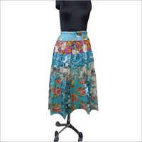 Printed Flower Skirt