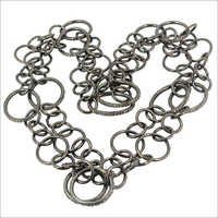 金刚石铺银色链项链