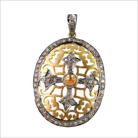 Gold Diamond Cross pendant
