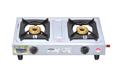 Biogas SS Double Burner Stoves