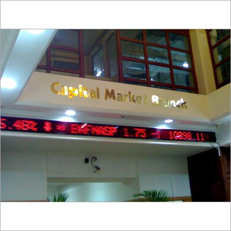 LED Stock Exchange Board