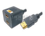 HDMI Male to 2 HDMI Female Cord