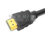 HDMI 19 Pin Plug to HDMI Plug Cord with Ferrite - 0.5 Meters