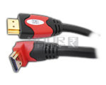 HDMI Male Straight to HDMI 90° Male Right Angle Cord Dual Molded - 3Meters