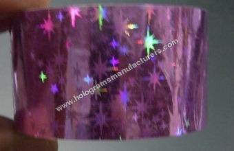 Holographic Self Adhesive Tapes (Star Fuscia)