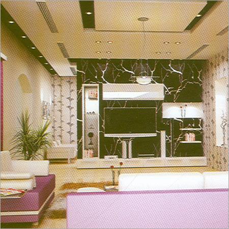 Living Room Plaster Of Paris Design Asian Gypsum Industries Pvt