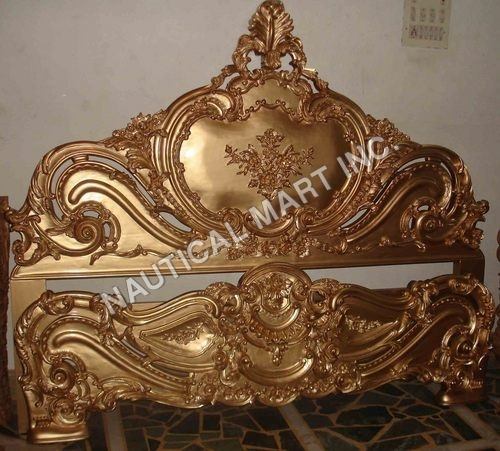 VINTAGE BRASS ANTIQUE LOOK BACK OF BED