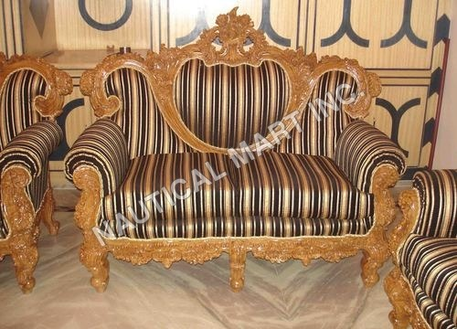 VINTAGE WOODEN SINGLE SET OF SOFA