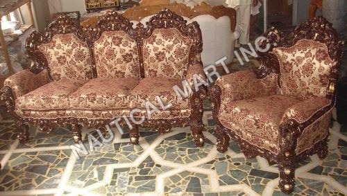 VINTAGE WOODEN SOFA SET