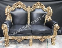 VINTAGE WOODEN TWO PAIRS OF SOFA