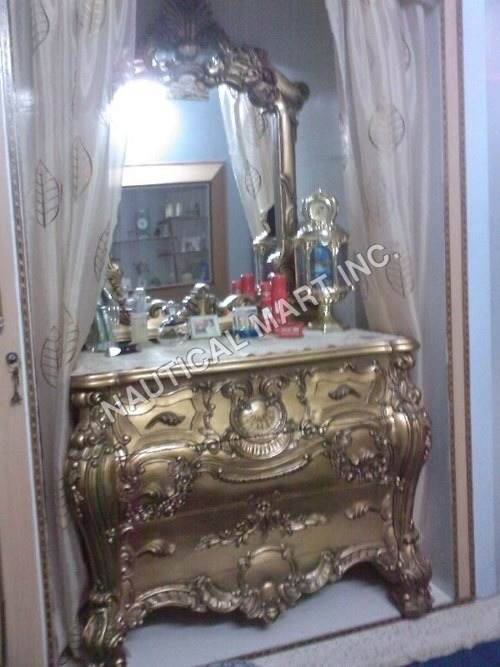 VINTAGE CONSOLE MIRROR  WITH DRAWER