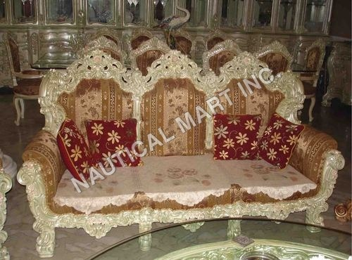 VINTAGE WOODEN LIVING SET OF SOFAS