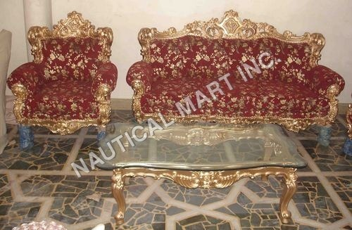 VINTAGE RED COLORED LIVING ROOM SET
