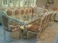 Wooden  White And Creamy Look  Dinning Table