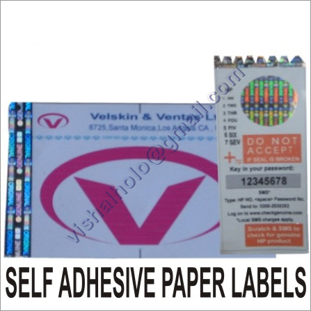 Self Adhesive Paper Labels