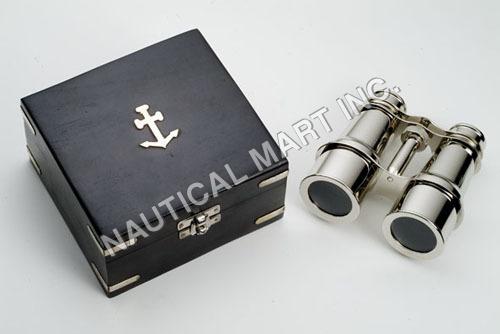 Nautical Chrome Binocular with Black Box