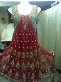 HEAVY RED ANARKALI SUIT