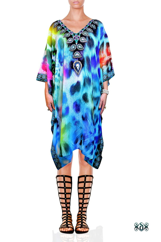 Short Georgette Digital Printed Kaftan