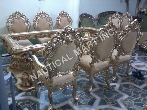 VINTAGE WOODEN SET OF DINNING TABLE