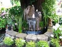 artificial waterfall fountain