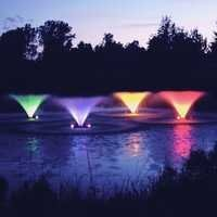 Colored fountains