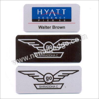 Metallic Name Badges