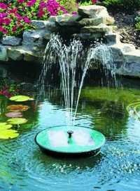 Solar water fountains
