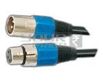 XLR 3 Pin Mic Connector to XLR 3 Pin Mic Cord - 5 Meters