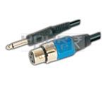 TS Male to 3 Pin XLR Cable - 1.5 Meters