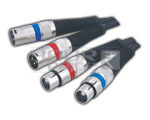XLR 2x3 Pin Mic Extension Socket To XLR 2x3 Pin Mic Cord - 5 Feet