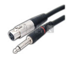 3 Pin XLR Male to TS male Cord 1.5 Meters