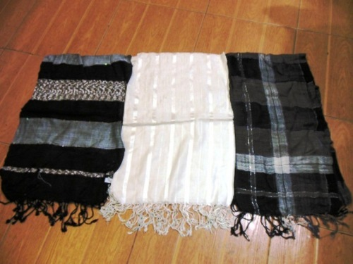 Black And White Viscose Stoles