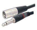 3 Pin Male XLR to TS male cord 1.5 Meter
