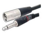 3 Pin Male XLR to TS Male cord 3 Meter