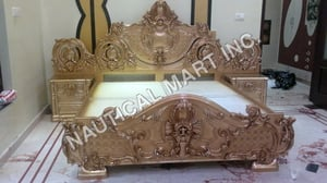VINTAGE WOODEN DOUBLE BED