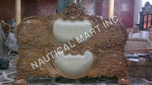 VINTAGE WOODEN FRONT OF WOODEN DIWAN