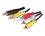 EP Stereo Plug 3.5 mm + EP Plug 3.5 mm to 3 RCA Plug Cord Vcd Cord for Sony - 1.5 meters