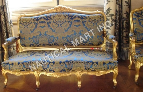 VINTAGE WOODEN SET OF SOFA