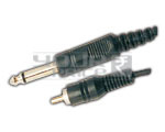 TS Male 1/4'' Mono jack to RCA  cord - 1.5 Meters