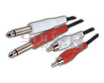 2 TS 1/4'' Jack male to 2 RCA male Cord - 1.5 Meter