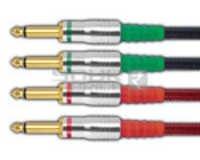 TS Male 1/4'' Mono jack to TS Male 1/4'' Mono jack Male cord - 3 Meters