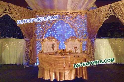 Wedding Stage Fiber Carved Backdrop Panels