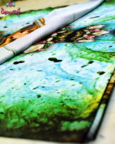 Digital Print Designer Dress Fabrics