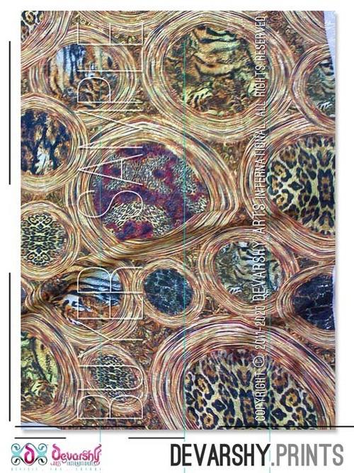 Animal Print Georgette Fabric Digitally printed