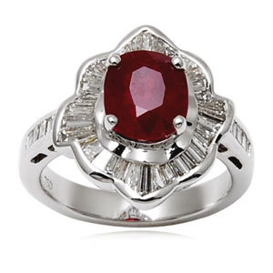 Natural Indian Ruby Ring
