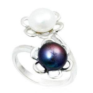 Sterling Silver Tahitian Pearl Ring Designer