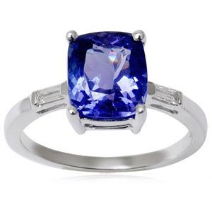 Tanzanite Engagement rings Tanzanite Wedding Rings set