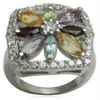 Brazil Amethyst Citrine Ring For Mens