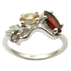 Citrine Garnet Rings for Sale