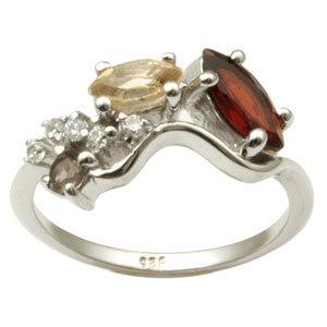 Citrine Garnet Rings for Sale